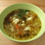 суп с цветной капустой и пшеничной крупой фото