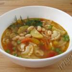 суп овощной с фасолью фото
