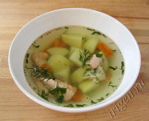 простой рыбный суп фото