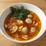 суп томатный с фрикадельками фото