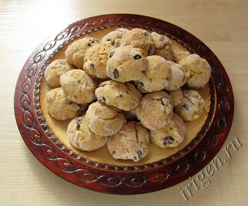 печенье на сковороде с яблоками)