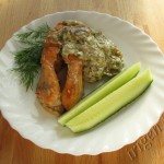 рыба с грибным соусом фото