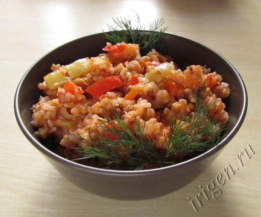 гарнир из круп и овощей фото