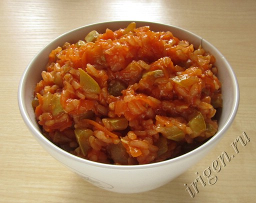 кабачки с рисом фото