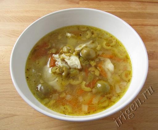 суп куриный с оливками фото
