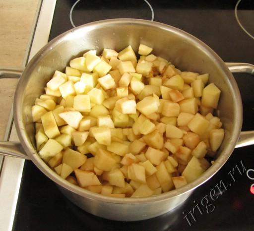 нарезанные яблоки фото