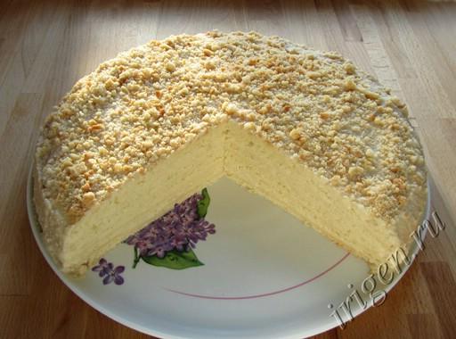 белый яблочный торт фото