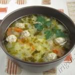 суп с фрикадельками и кабачком фото