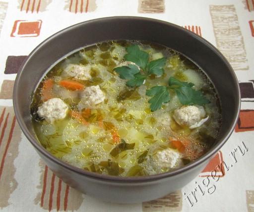как приготовить суп с рисом и с фрикадельками