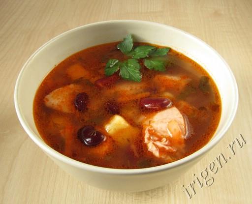 суп с консервированной белой фасолью рецепт с фото