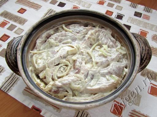 рецепт мяса в горчичном соусе в духовке