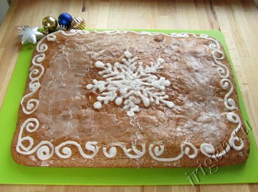пряничный пирог с узорами фото