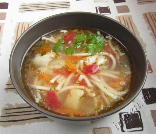 суп куриный со спагетти фото