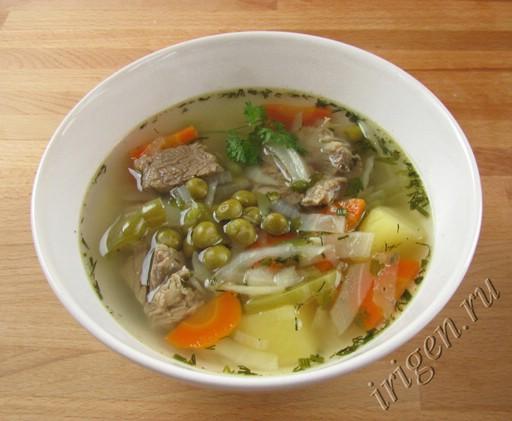 рецепт овощного супа на говяжьем бульоне с фото