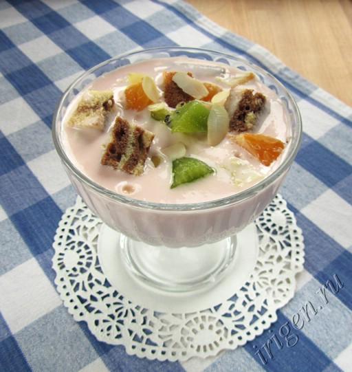 десерт с зефирным кремом