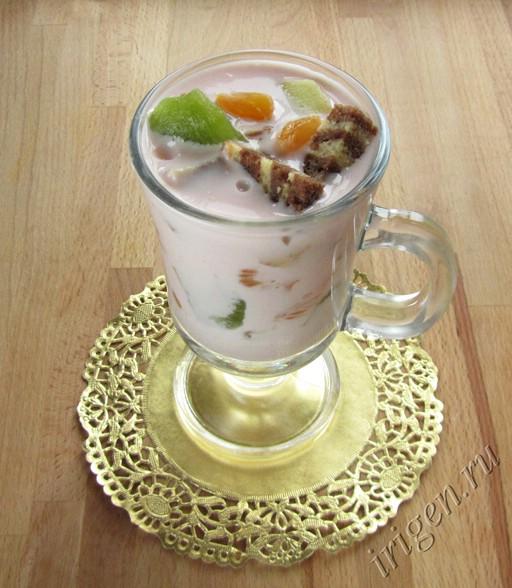 десерт фруктовый с зефирным кремом фото