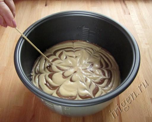 кекс в мультиварке рецепты с фото зебра