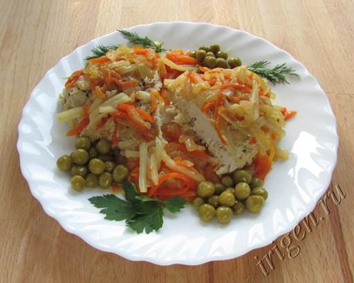куриная грудка с овощами в фольге фото