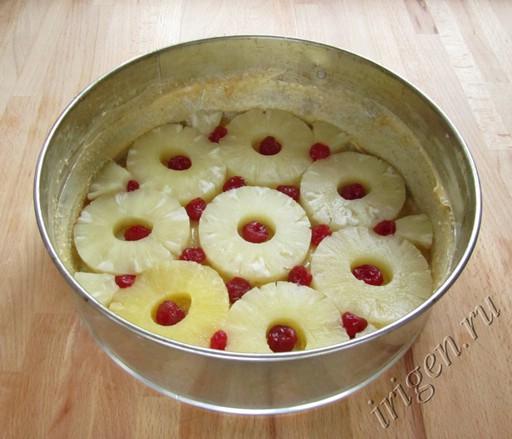 укладка ананасов  и вишни фото