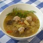 суп грибной с фрикадельками фото