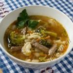 мясной суп с капустой брокколи фото