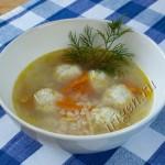 суп с куриными фрикадельками фото