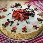 торт со сливочным кремом фото