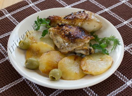 курица в маринаде с картофелем фото