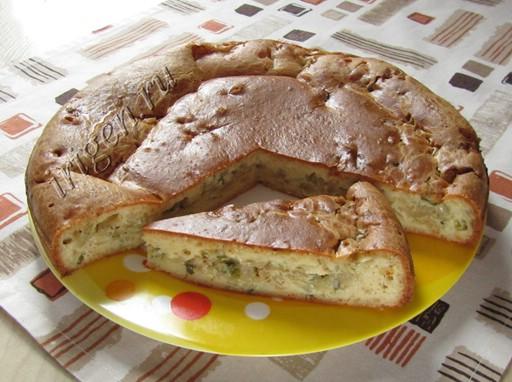 вкусный пирог с капустой на майонезе