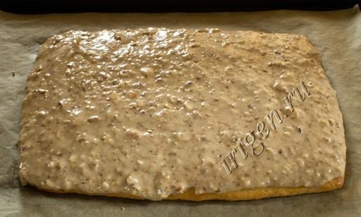 корж с белково-ореховой смесью фото