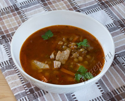 суп томатный с чечевицей фото