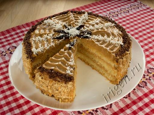 торт бисквитный в мультиварке фото