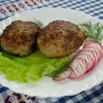мясные котлеты с овощами и геркулесом