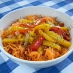Салат морковный со сладким перцем