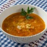 Суп гороховый с томатом