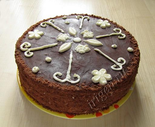 торт спартак с глазурью