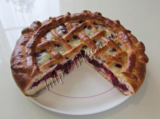 Дрожжевой пирог с черешней рецепт