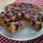 ягодный пирог из белкового теста фото