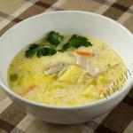 суп куриный со сливками фото