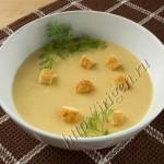 Фасолевый суп-пюре со сливками фото
