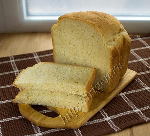 Хлеб пшенично-кукурузный в хлебопечке фото