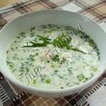 окрошка с салатной смесью