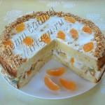 бисквитный торт с йогуртовым кремом