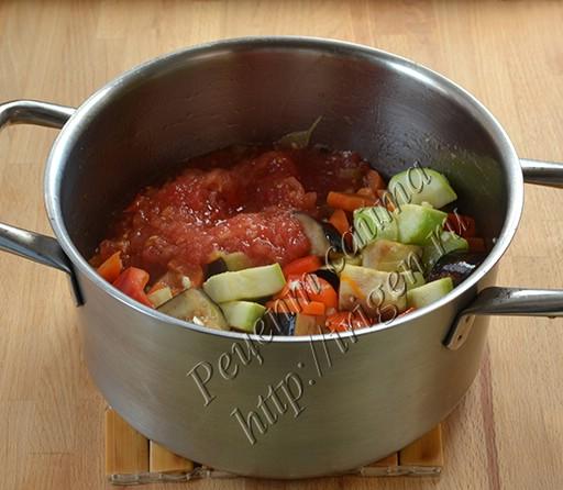 приготовление овощного соуса-гарнира