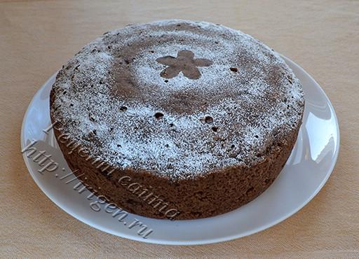 шоколадный кекс Загадка в мультиварке
