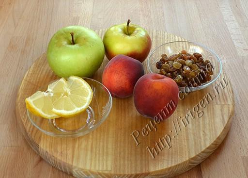 фрукты для компота