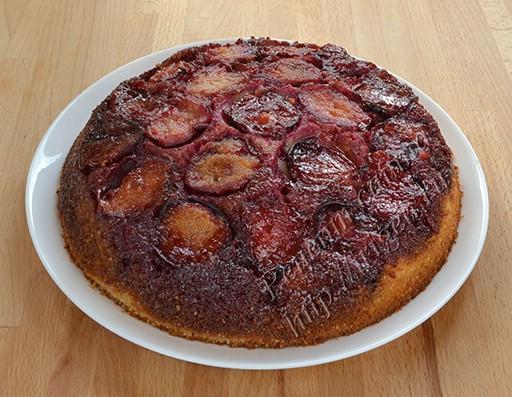 Сливовый пирог перевертыш рецепт 2