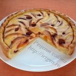 пирог с персиками в разрезе