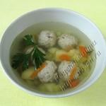 суп с гречневыми фрикадельками