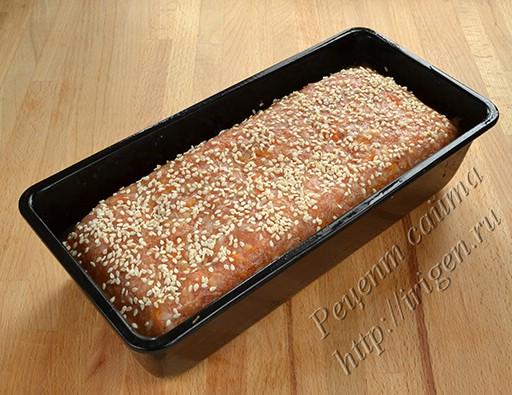 мясной хлеб перед выпечкой